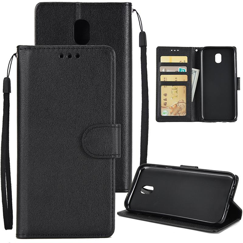 For Samsung J7 2017 European Edition/J730/J7 PRO PU Leather Protective Phone Case with 3 Card Position Style:Samsung J7 2017 European Edition / J730 / J7 PRO