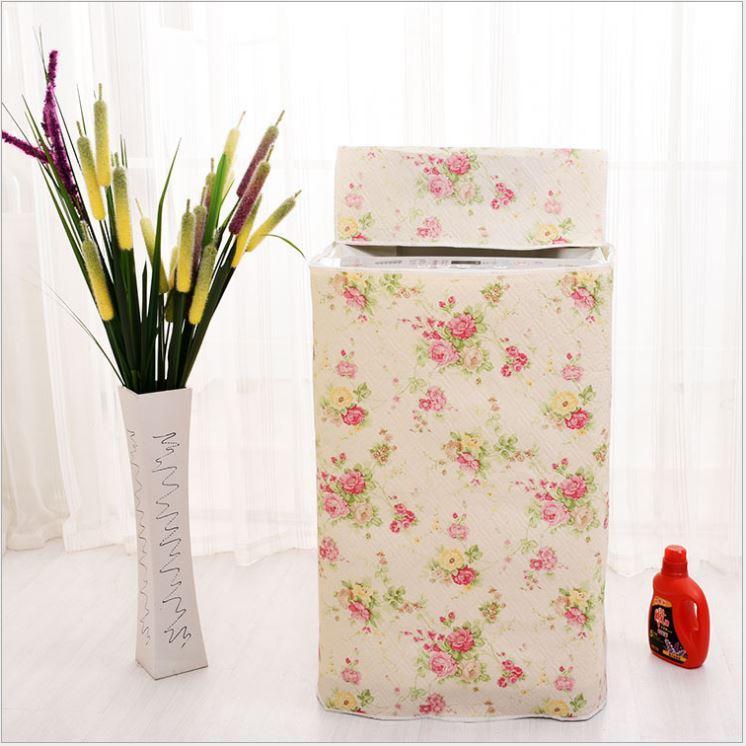 Hình ảnh Áo Trùm Máy Giặt Cửa Trên 7-8Kg Dày Họa Tiết Hoa Chống Nắng Nước Bụi