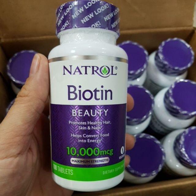 Mẫu mới Date 8.2019 Thuốc mọc tóc biotin 10000mcg