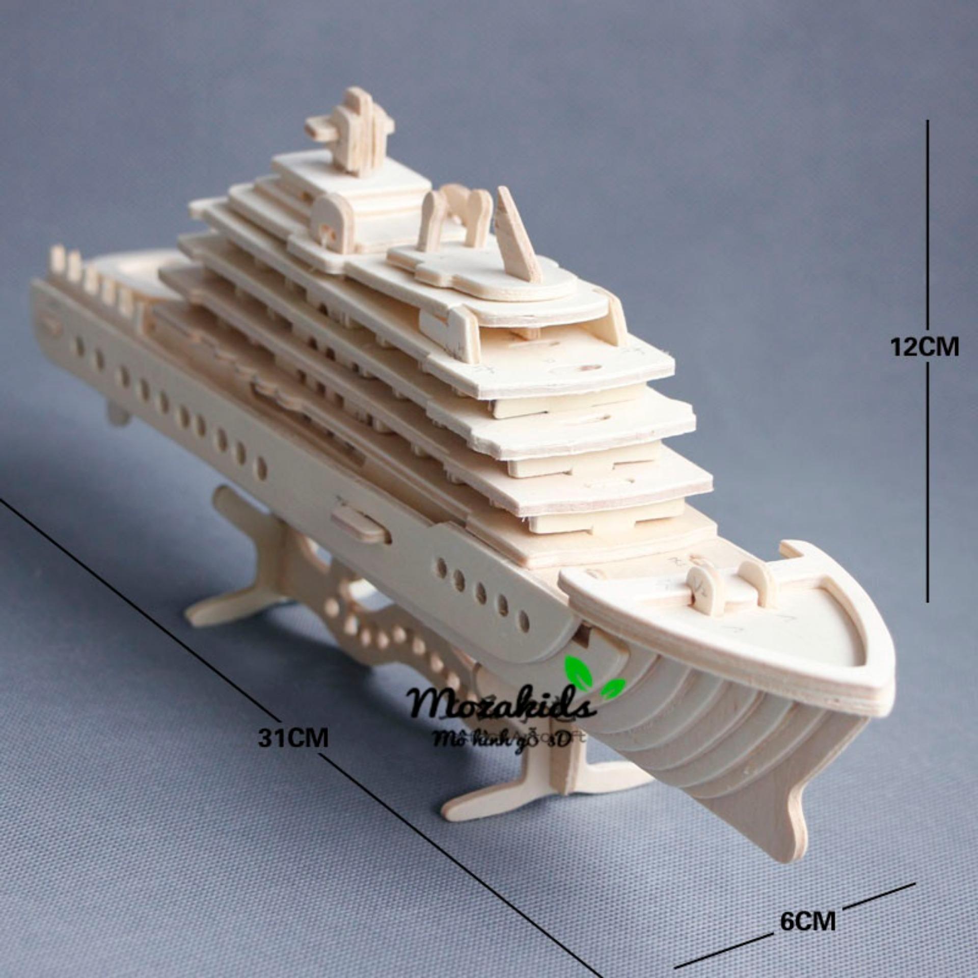 Hình ảnh Đồ chơi lắp ráp gỗ 3D Mô hình Du Thuyền