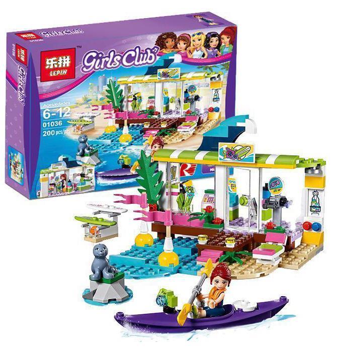 Hình ảnh Lego xếp hình Girls Club- Cửa hàng bán đồ thể thao trên biển - 200 chi tiết