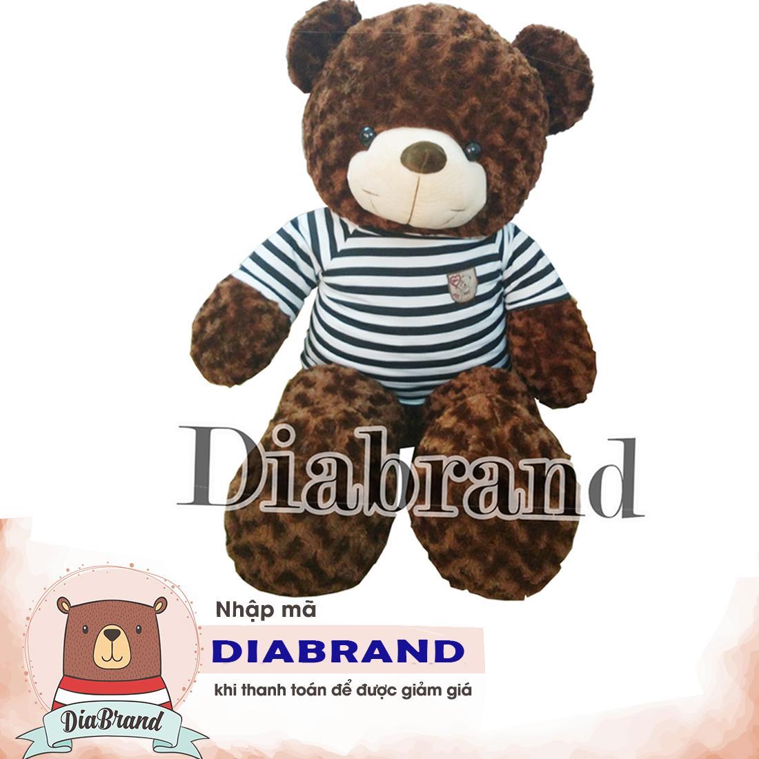 Hình ảnh GẤU BÔNG TEDDY CAO CẤP KHỔ VẢI 1M DÀI 80CM NÂU -TEDDY08 (nhà bán hàng Diabrand)