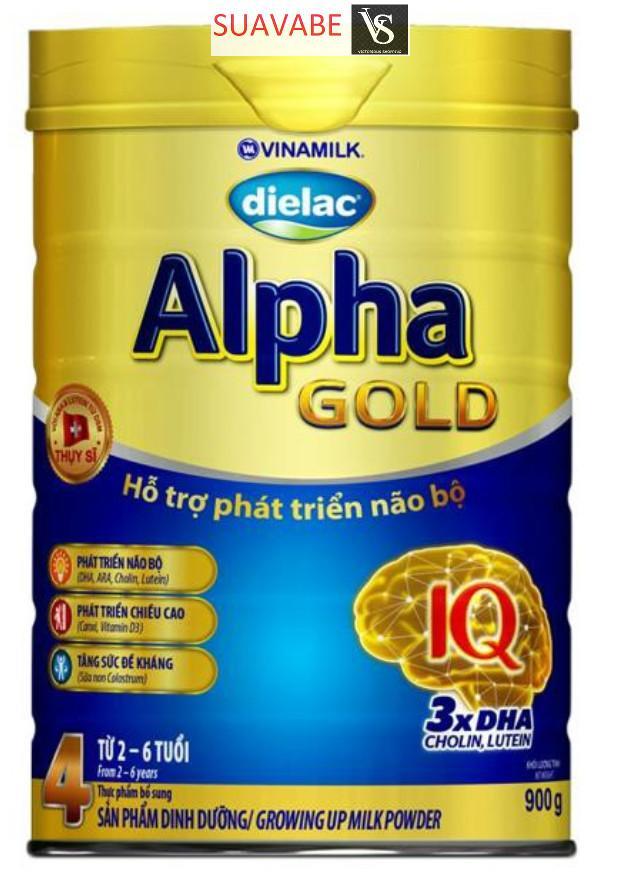 Sữa bột Vinamilk Dielac Alpha Gold 4 900g (hộp thiếc)