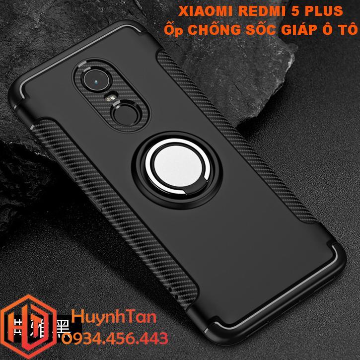 Hình ảnh Ốp lưng Xiaomi Redmi 5 Plus_Ốp lưng chống sốc giáp ô tô cho Redmi 5 Plus (Đen)