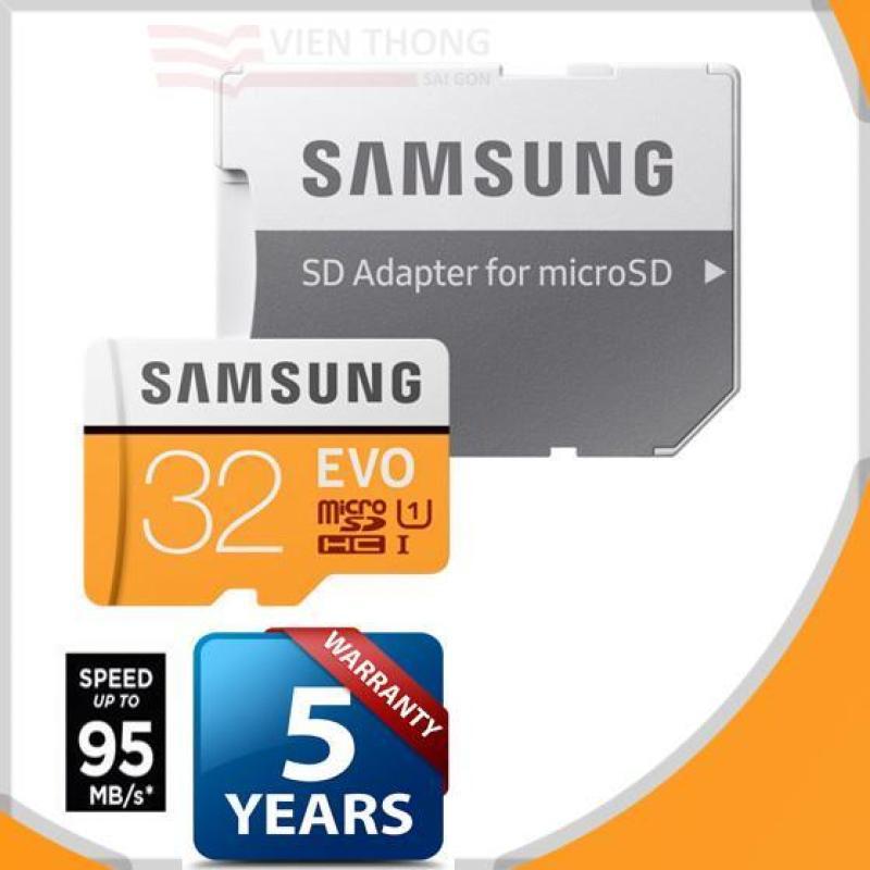 Thẻ nhớ 32gb Samsung EVO MicroSDHC Tốc độ cao up to 95MB/s 2018 (Cam)  + Adapter