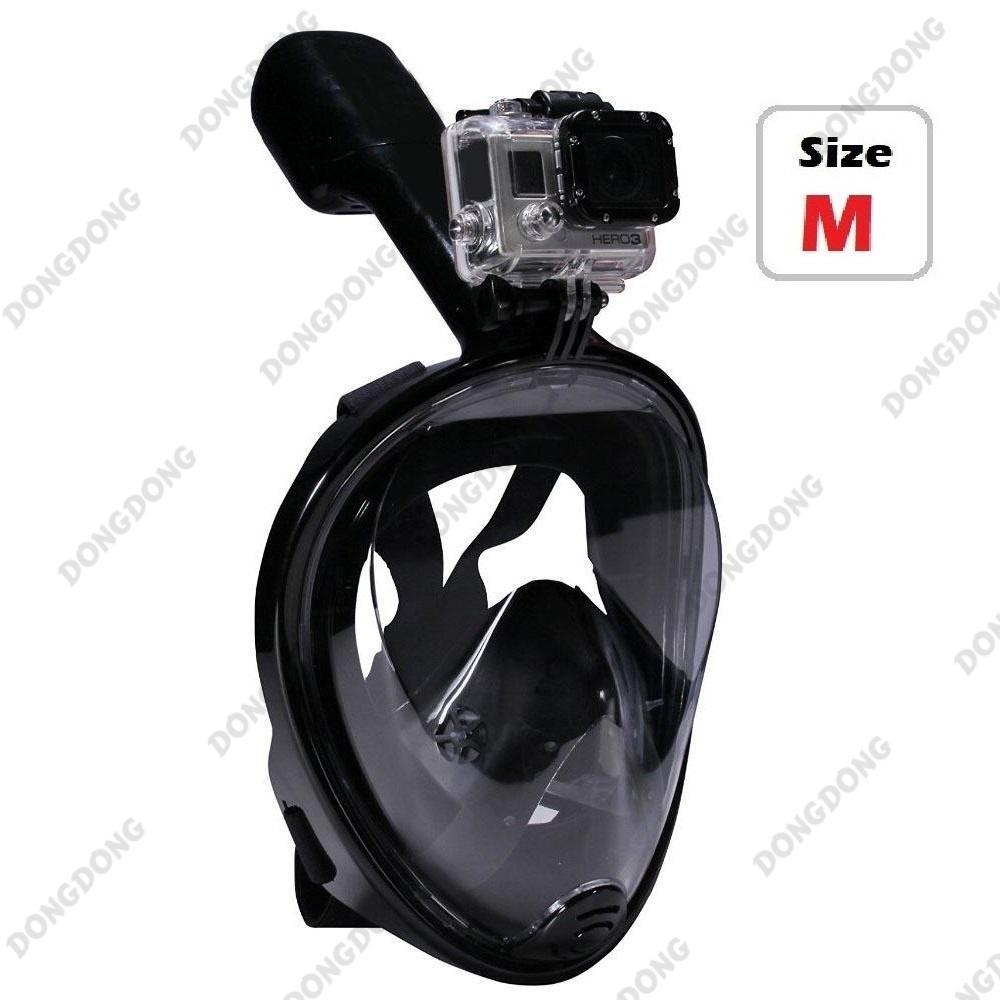 Chiết Khấu Mặt Nạ Lặn Full Face Black Mắt Nhựa Trong Gắn Được Gopro Sjcam Tầm Nhin 180 Độ Ống Thở Gắn Liền Ngăn Nước Dongdong Oem Hà Nội