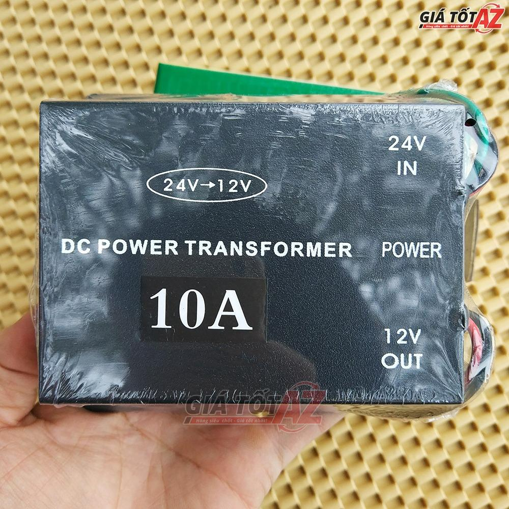 Bộ đổi nguồn 24V sang 12V cho xe ô tô cường độ 10A