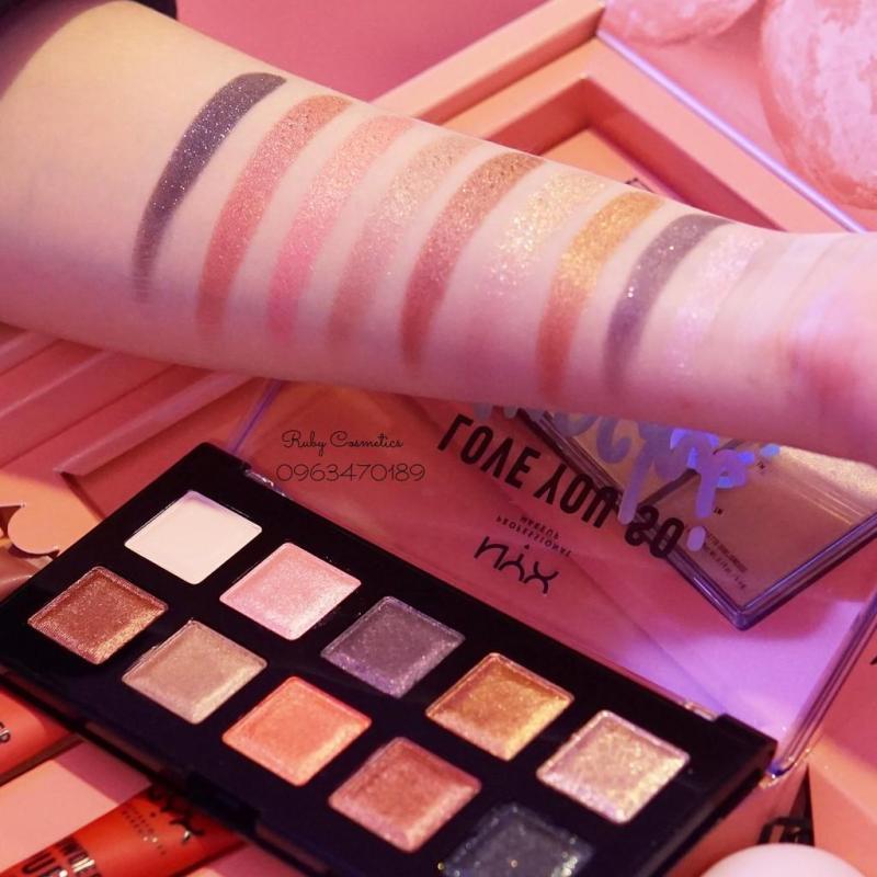 Bảng Màu Mắt Nyx Love You So Mochi Eyeshadow Palette_Electric Pastels