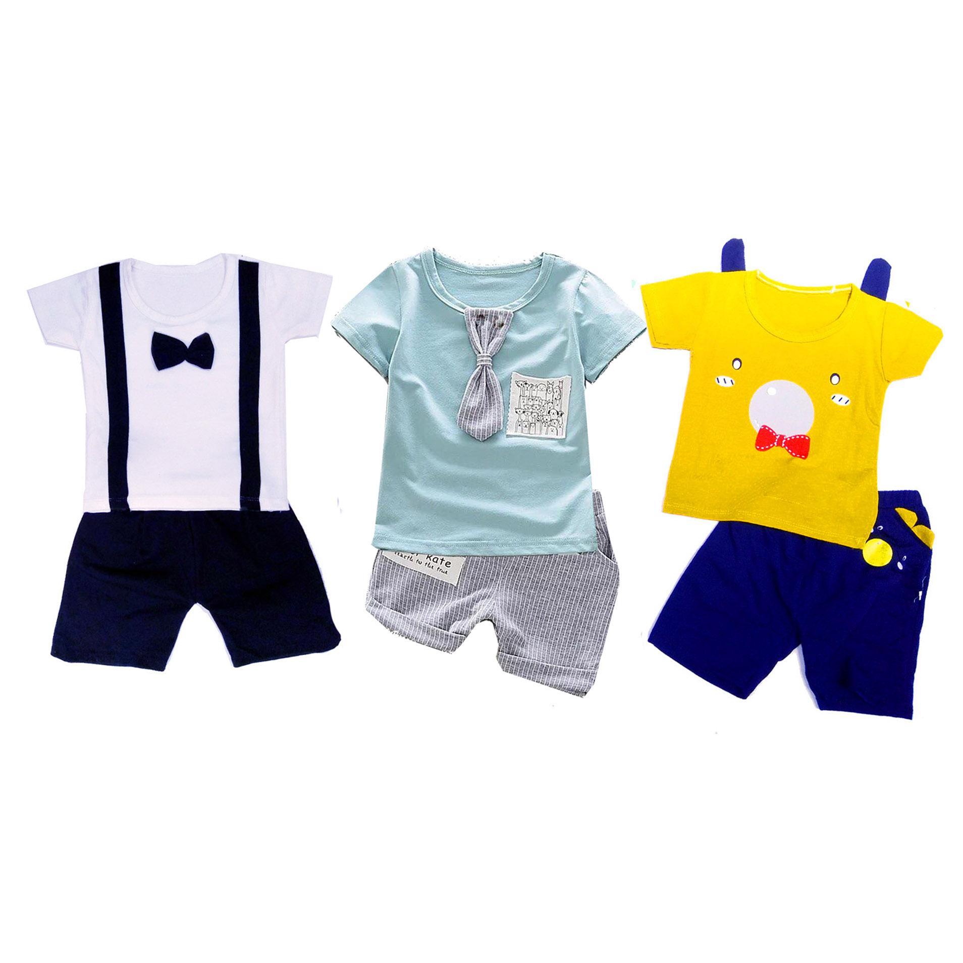 Combo 3 bộ quần áo cộc tay C3QATE48 cho bé trai
