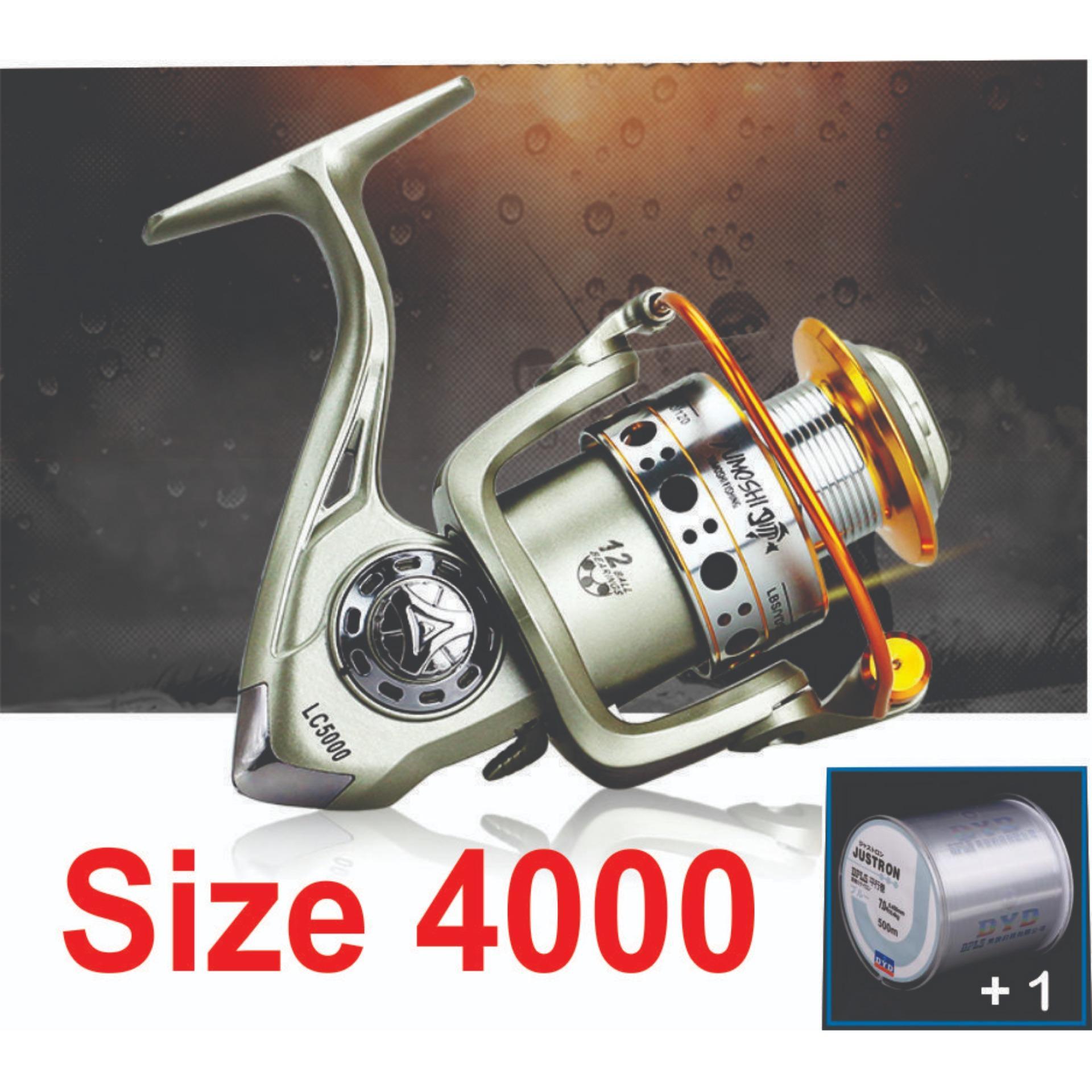 Hình ảnh Máy câu cá Yumoshi LC-3000 - 7000 - 12 bạc đạn - Kim Loại
