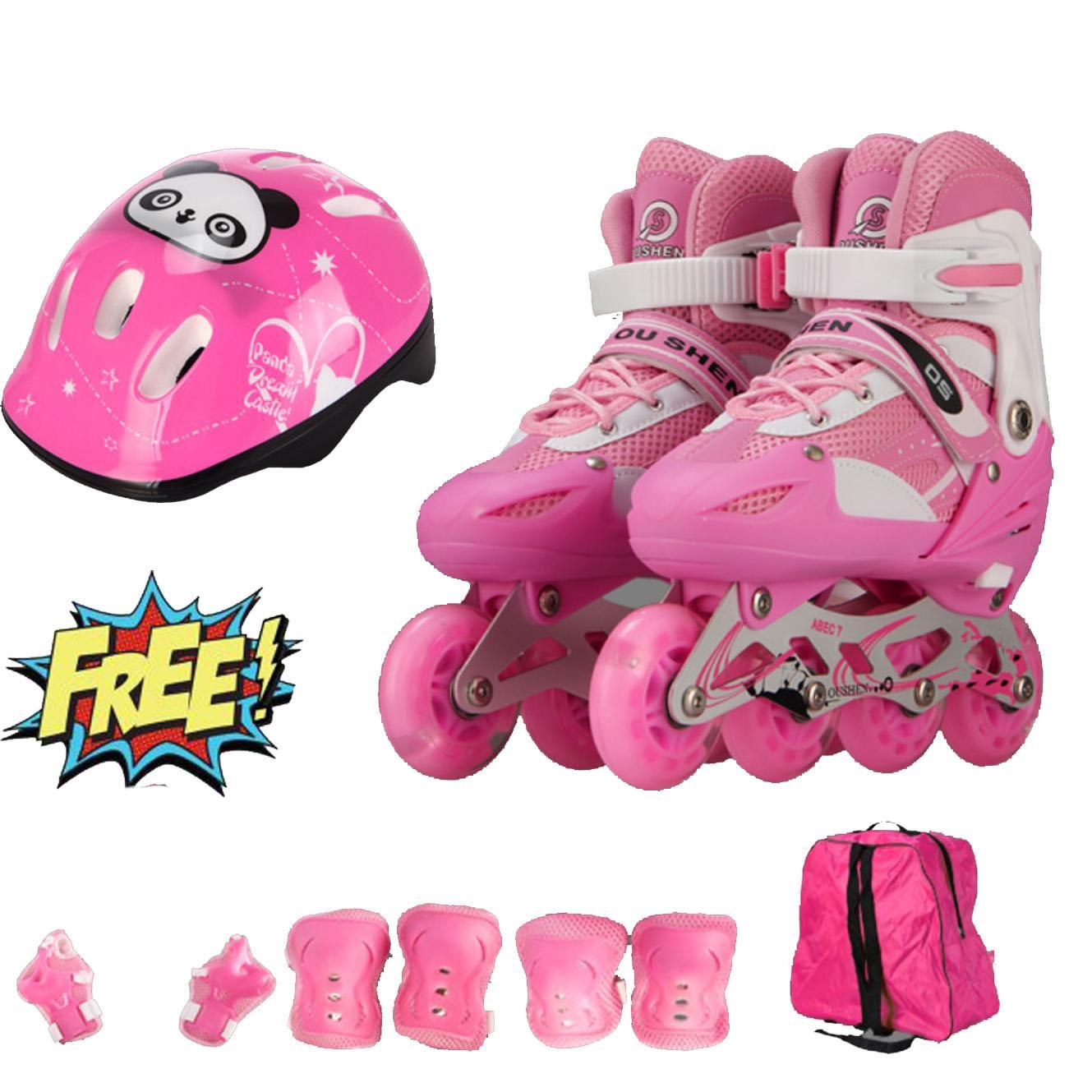 Hình ảnh Giầy trượt patin cao cấp tặng kèm bộ bảo vệ chân tay và mũ bảo hiểm
