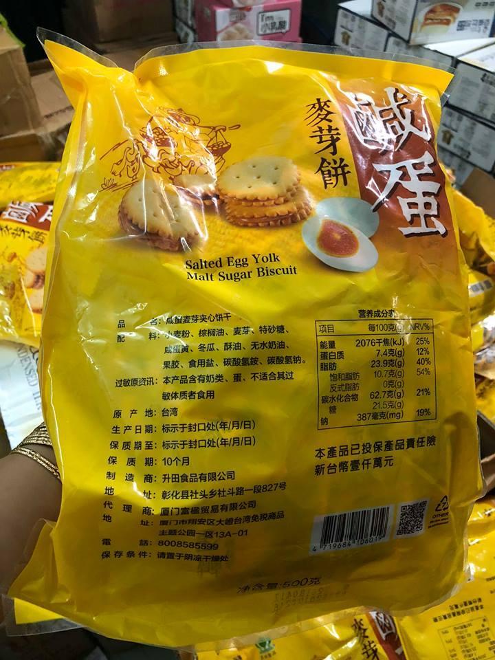 Hình ảnh Bánh qui trứng muối Đài Loan 500gram