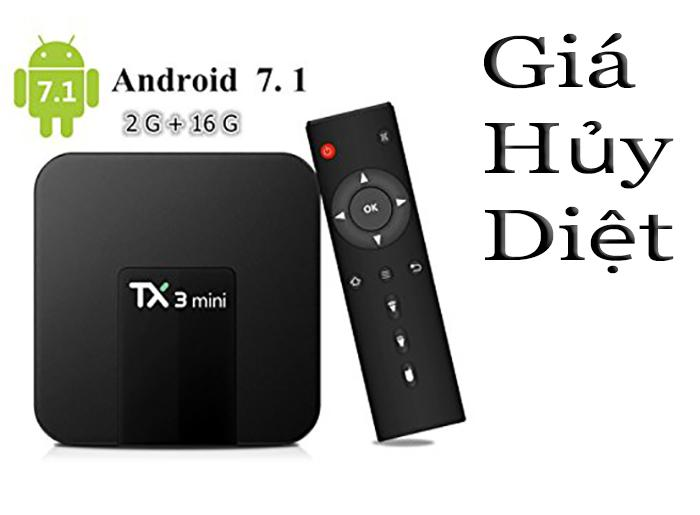 Hình ảnh Android Tivi box Tx3 mini Ram 2GB - Rom 16GB - Android 7.1.2 ( Giá hủy diệt )