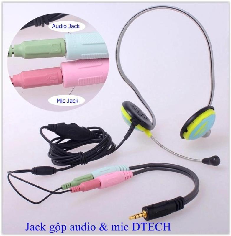 Bảng giá Jack gộp micro và audio Dtech DT 6237 Phong Vũ