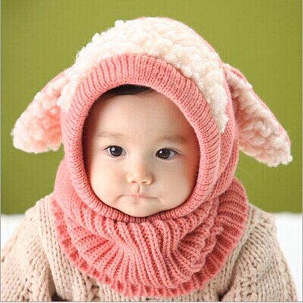 Hình ảnh Bô mũ khăn len tai cừu cho bé