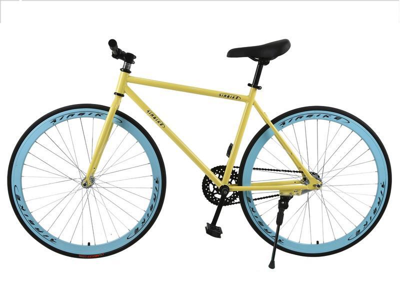 Xe đạp Fixed Gear Air Bike MK78 (vàng màu)