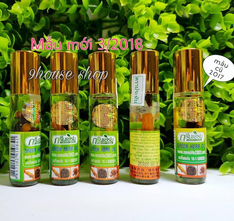 Bán 6 Chai Dầu Nhan Sam Green Herb Thai Mẫu Mới Hồ Chí Minh