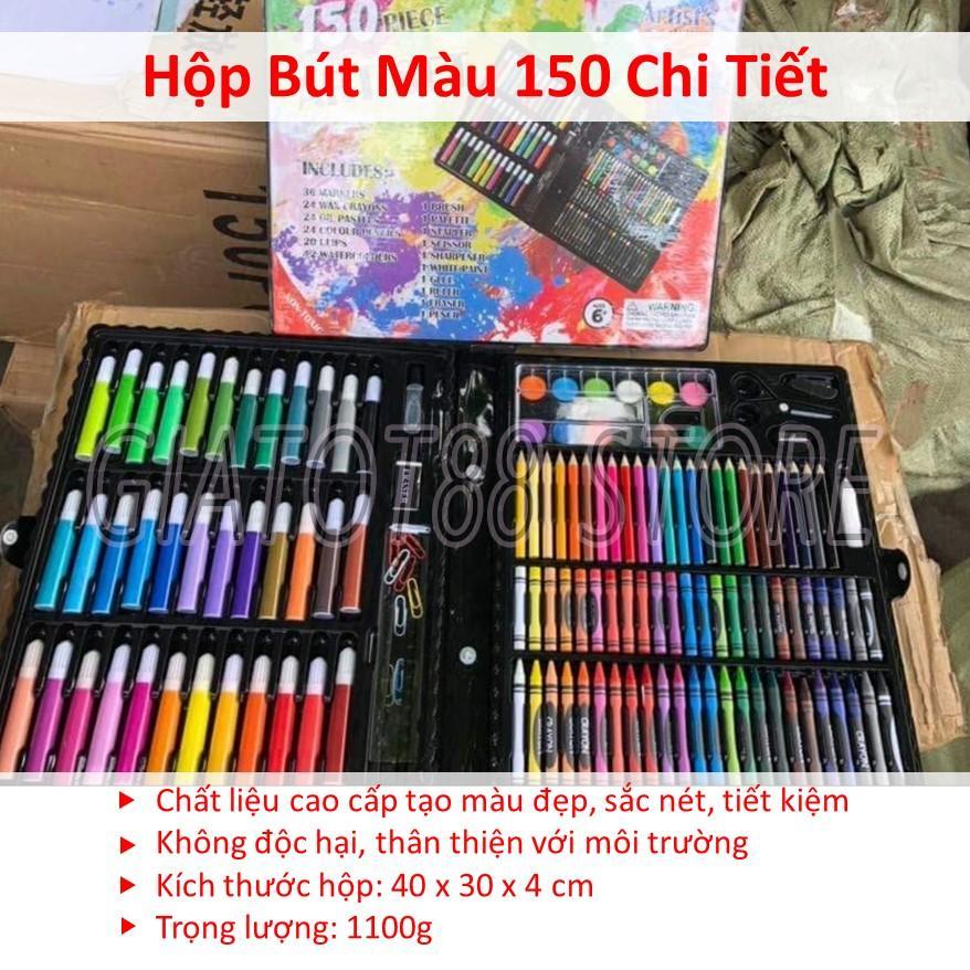 Hình ảnh Hop Mau 4 Tang, Bộ Bút Chì 150 Món Tập Bé Cho Bé Dạng Cặp Xách, 5 Kiểu Bút Màu , Chất Liệu Cao Cấp Tạo Màu Đẹp