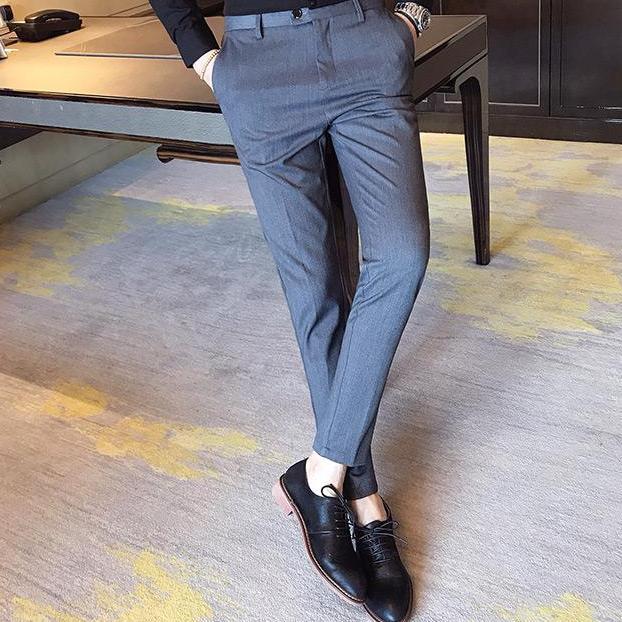 Quần âu nam công sở không nhăn thời trang cao cấp Luxxy - QA01(Đen)