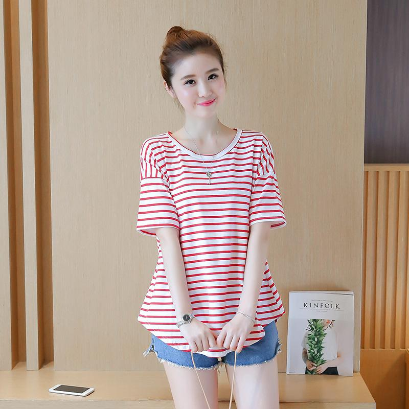 9e3a3c4dc3116 Maternity Clothes Summer Wear Short Sleeve T-shirt Korean Style Pure Cotton  Fashion Mom Loose