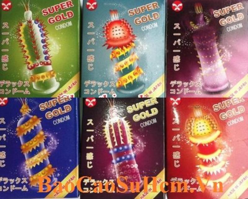 Bộ 3 Bao cao su super gold đầu Gai