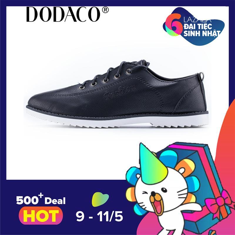 Bán Giay Sneaker Nam Giay Thể Thao Nam Thời Trang Nam Dodaco Las0003 Đen Dodaco Trực Tuyến