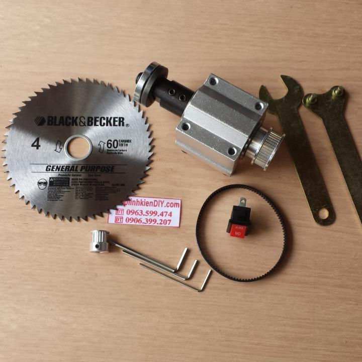Hình ảnh bộ kit chế máy cưa bàn cho motor 775-795-840-88