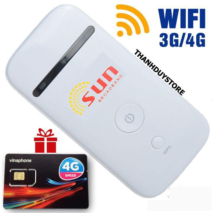 Hình ảnh Bộ phát Wifi 3G 4G SUN chất lượng nhật bản - tặng sim Data khủng 120GB - Phát Wifi di động giá rẻ
