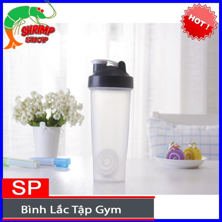 Bán Bình lắc tập gym,thể thao Protein Shaker 600ml ( có quả lắc)