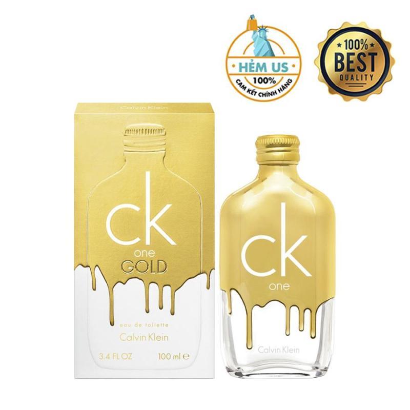 Nước hoa Unisex hương Gỗ Thơm Calvin Klein One phiên bản Gold 100% Authentic 100ml