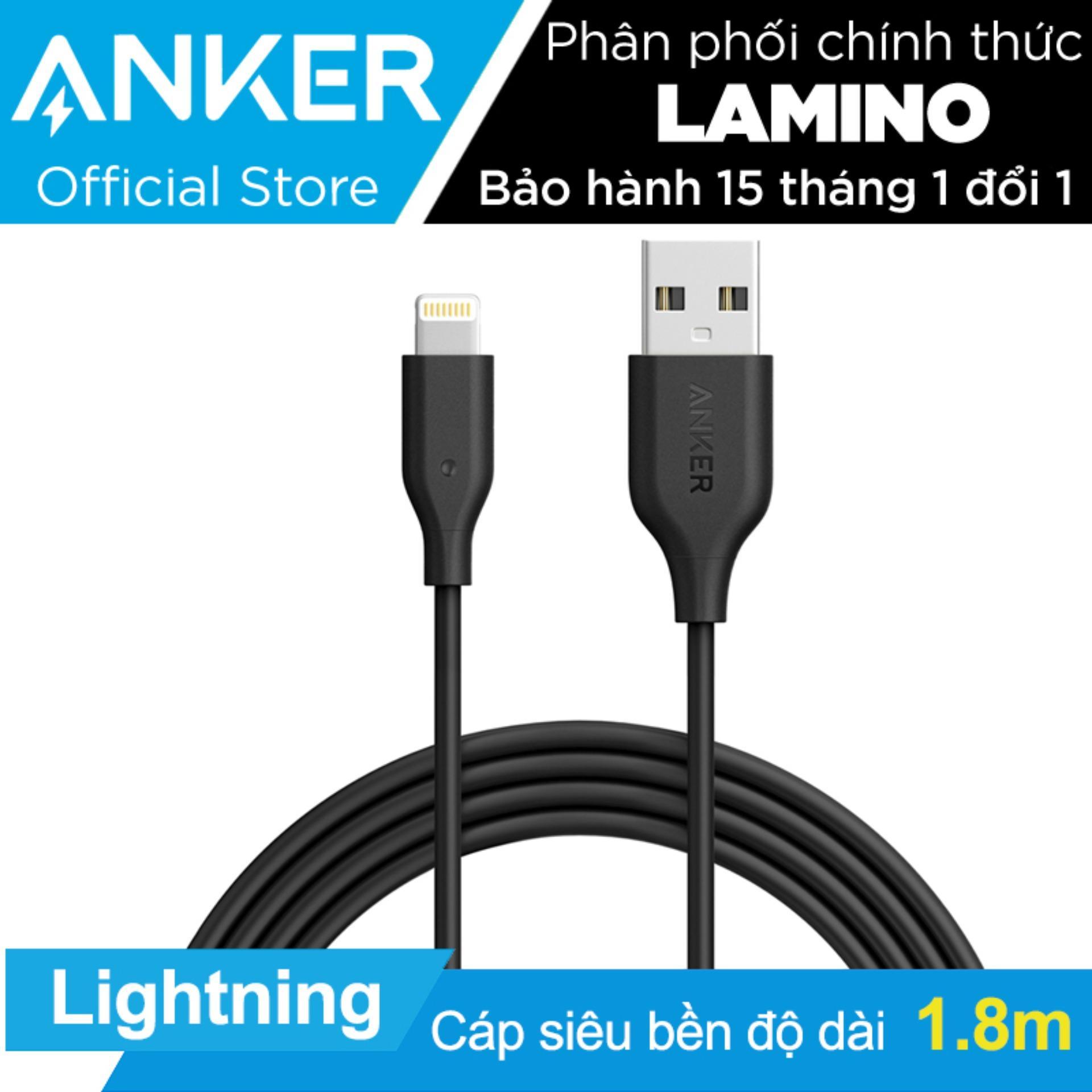 Ôn Tập Tốt Nhất Cap Sạc Sieu Bền Anker Powerline Lightning 1 8M Cho Iphone Ipad Ipod Đen Hang Phan Phối Chinh Thức