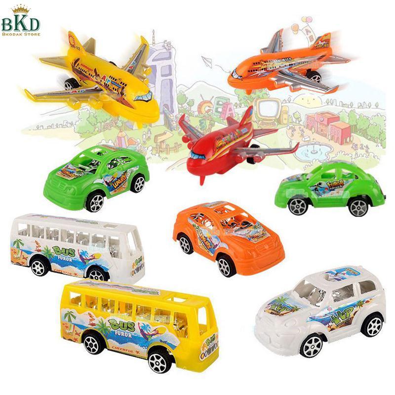 Hình ảnh 9Pcs/Set Bus Car Plane Model Set Kit Kids Children Baby Fun Funny Vehicle Toys