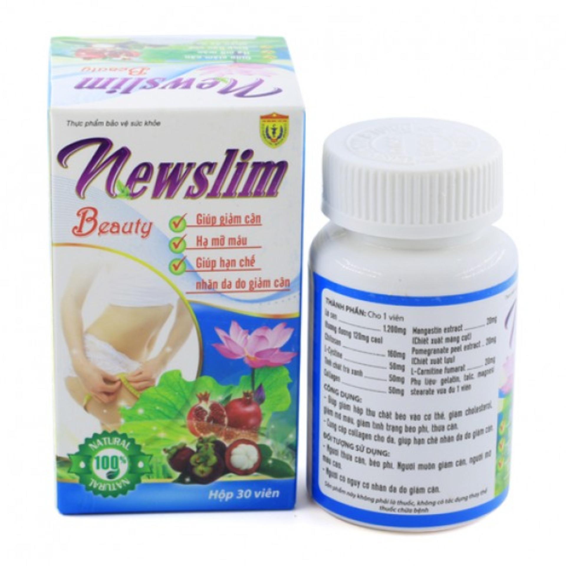 Viên uống Newslim Beauty giảm cân hộp 30 viên HVQY