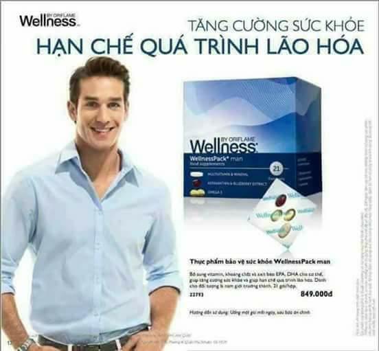 Thực phẩm bảo vệ sức khỏe WellnessPack man nhập khẩu