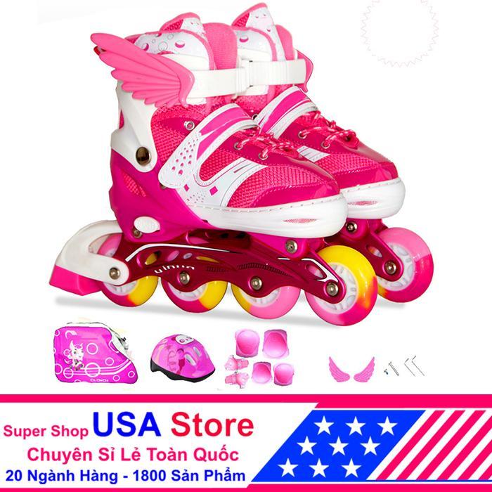 Giày Trượt Patin F1 Cánh Thiên Thần Đủ Bộ Hồng Size L (39-42) ACN1040 -03 NEWT5218