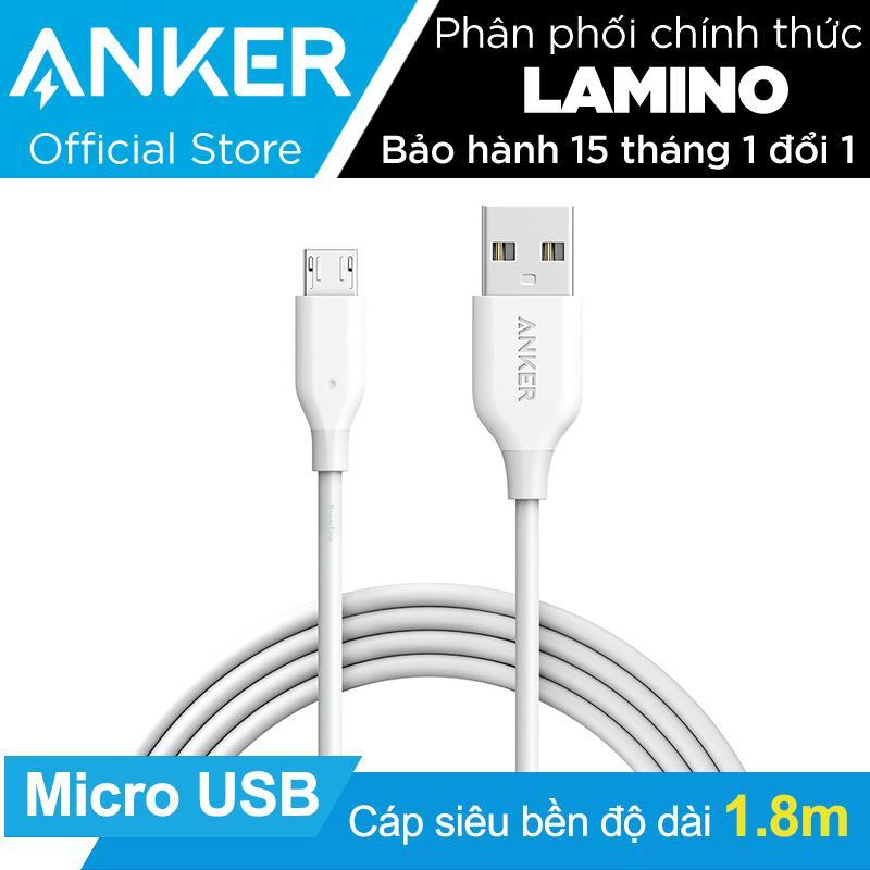Ôn Tập Cap Sạc Sieu Bền Anker Powerline Micro Usb 1 8M Trắng Hang Phan Phối Chinh Thức