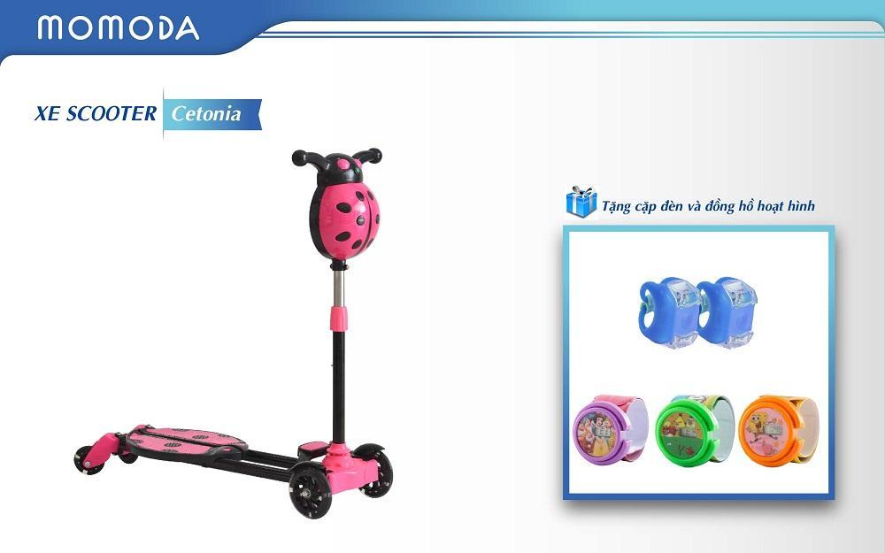 Xe Scooter Cetonia+ tặng đèn cặp và đồng hồ hoạt hình