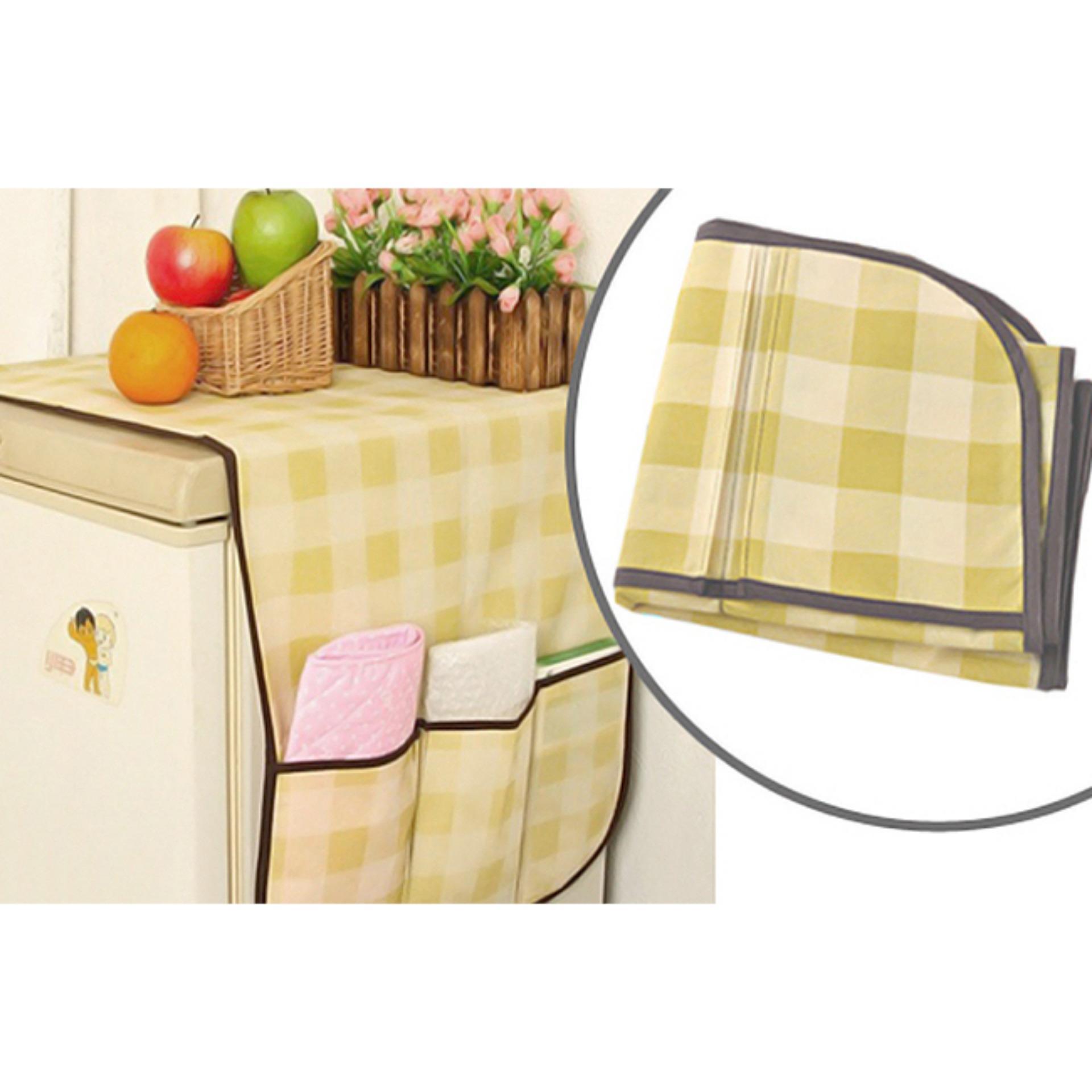 Hình ảnh Tấm phủ tủ lạnh có túi chứa đồ tiết kiệm diện tích