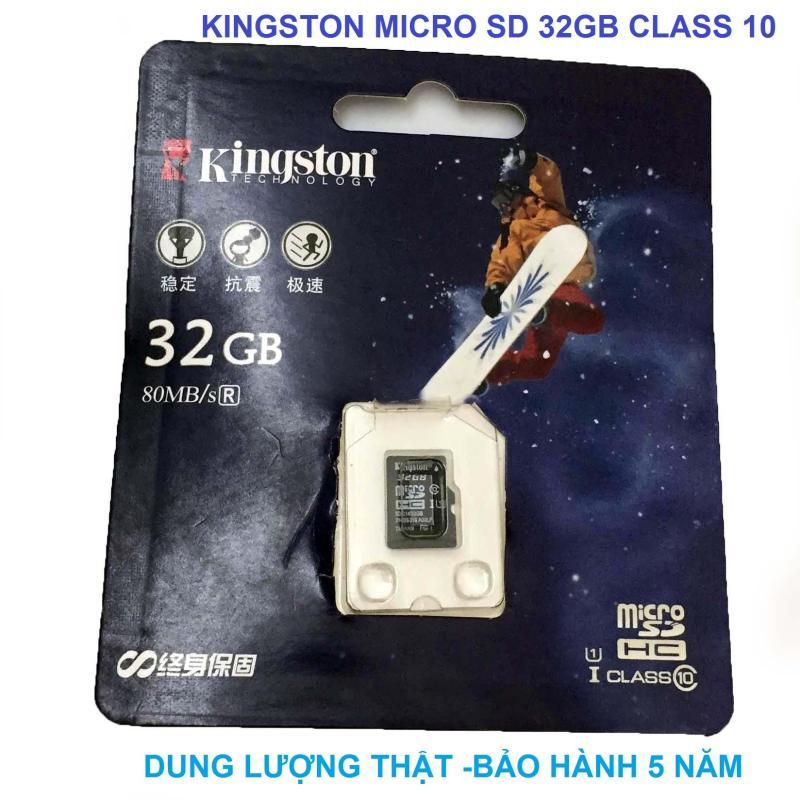 thẻ nhớ Micro SD TF 32GB Kingston Class 10 cho máy ảnh camera