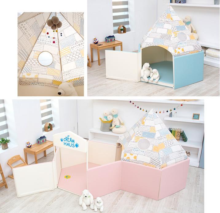 Hình ảnh CreamHaus - ICE CASTLE YT IGLOO Blue Yellow Combi (139x120x82), YT-IG-BY,ICE CASTLE YT, Mái lều bác giác, đồ chơi, trò chơi, nhà nanh, phụ kiện, lều chơi, trang trí, sang trọng, interior, nội thất, sản phẩm mới, sản phẩm hàn quốc, nổi tiếng, mẹ,chăn sóc