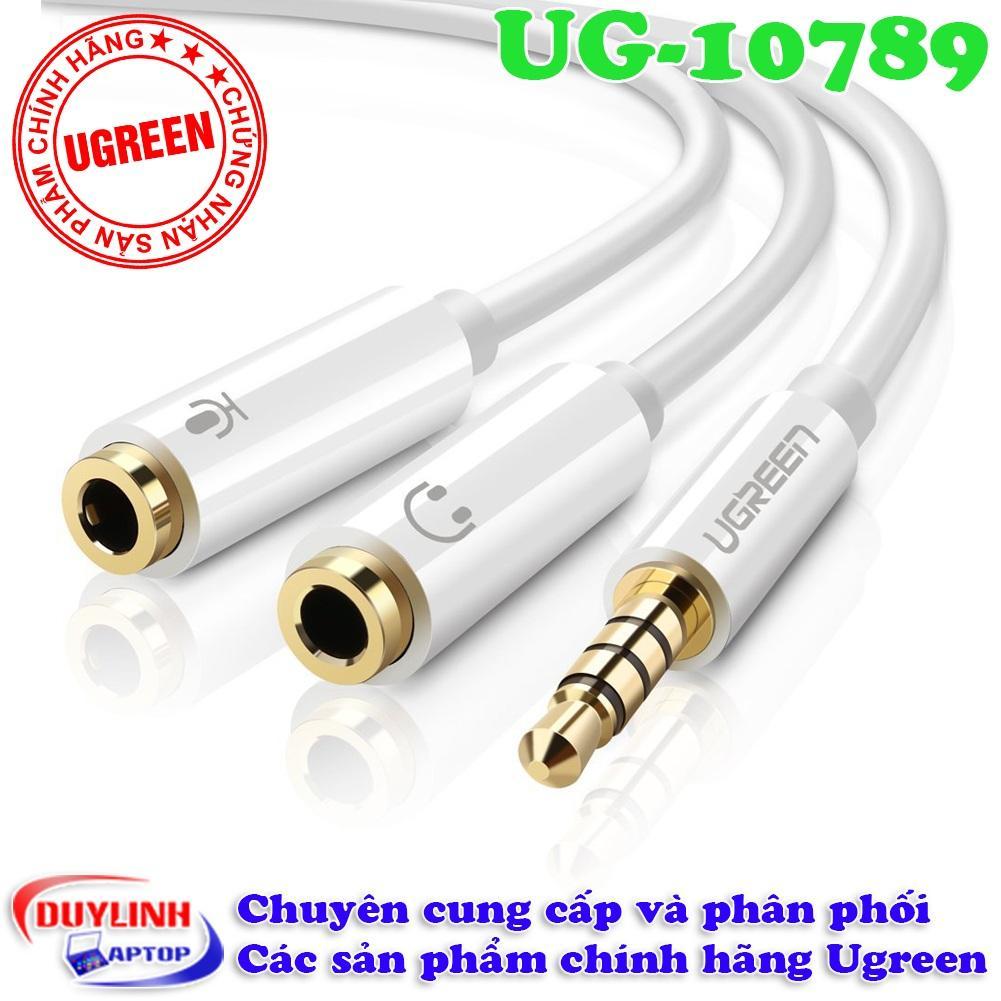 Giá Bán Cap Chuyển Audio 3 5Mm Sang 1 Đầu Audio 3 5Mm 1 Đầu Microphone Ugreen 10789 Ugreen Hà Nội