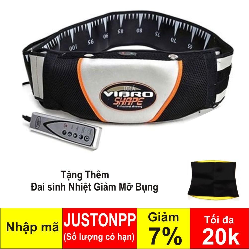Hình ảnh Đai massage nóng và rung Vibro Shape (Đen) + Đai sinh nhiệt giảm mỡ bụng