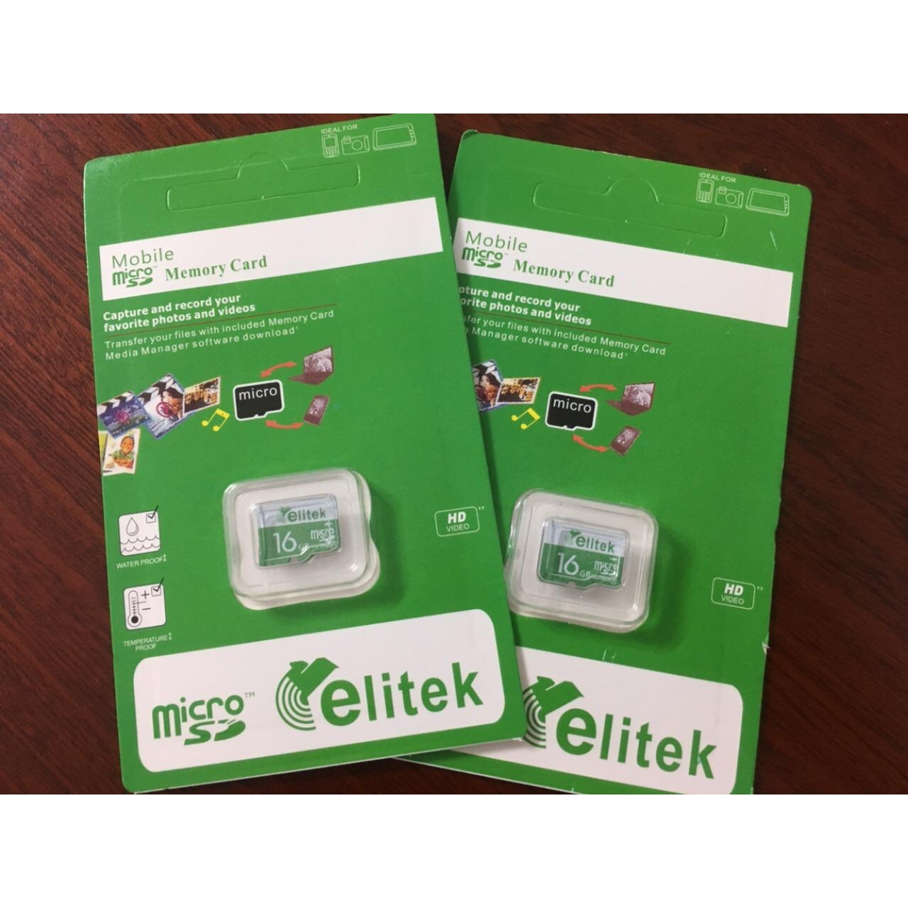Combo 2 Thẻ Nhớ Micro Elitek Sd 16Gb Oem Chiết Khấu