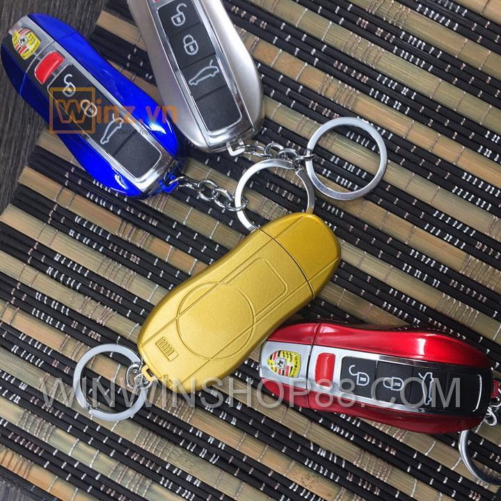 Hình ảnh Móc khóa bật lửa lửa khè hình siêu xe cao cấp(có đèn pin)