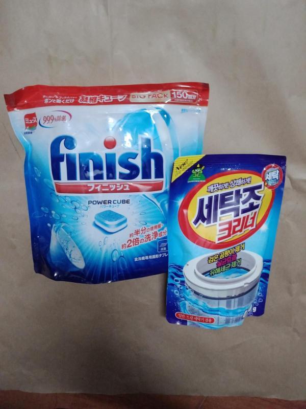 viên rửa bát Finish nhật túi 150 viên tặng gói tẩy lồng máy giặt