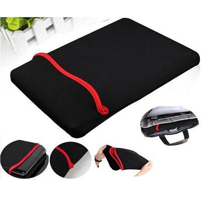Hình ảnh Túi chống sốc và bảo vệ Laptop nhung viền đỏ dùng cho laptop 15 - 15.6 inch