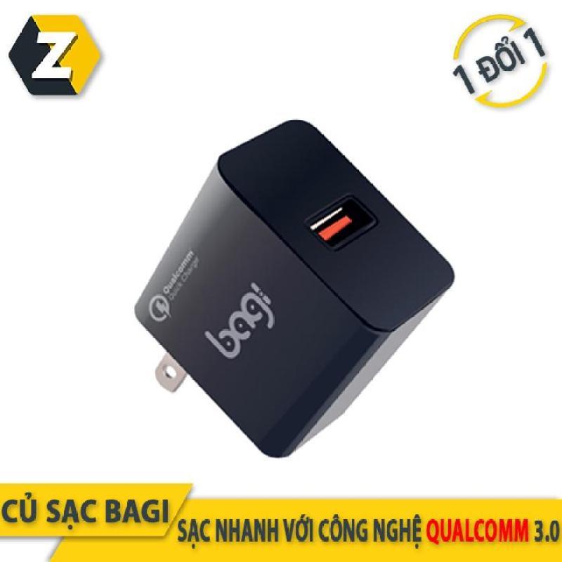 Củ sạc nhanh Quick Charge 3.0 Bagi tiêu chuẩn châu Âu ( màu đen )