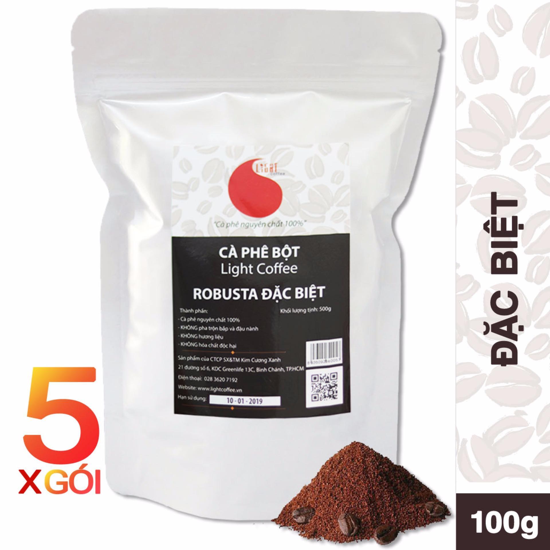 Giá Bán Giảm Gia Combo 5 Goi 2 5Kg Ca Phe Nguyen Chất 100 Light Coffee Đặc Biệt Bột Nguyên