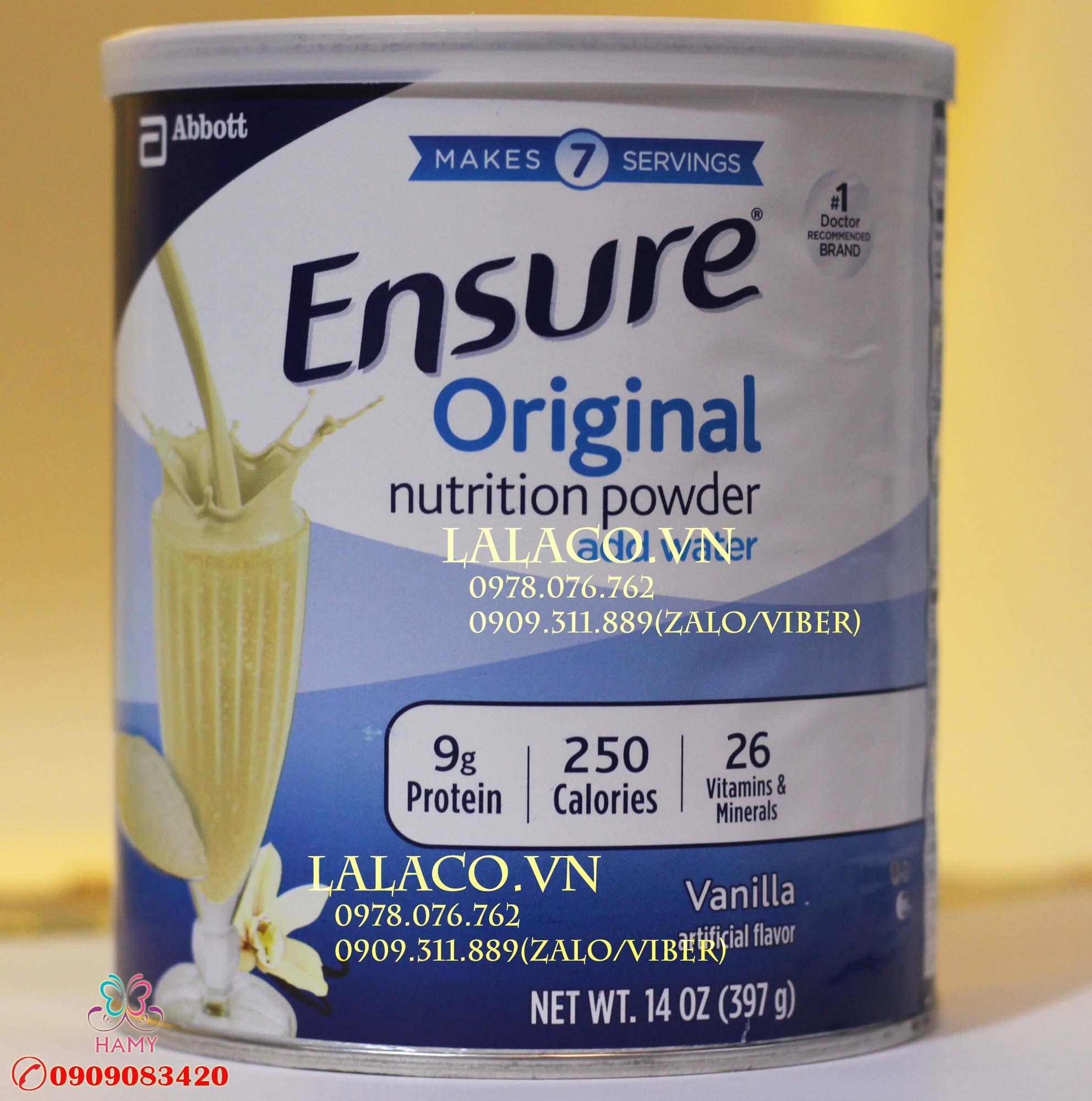 Sữa bột Ensure Original Nutrition Powder 397g Mỹ OEM – Review sản phẩm