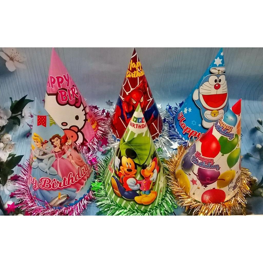 Hình ảnh Nón tiệc sinh nhật Việt Nam nhiều mẫu viền kim tuyến - Diệp Linh